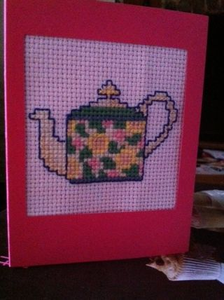 Mothers Day Stitched Teapot Card