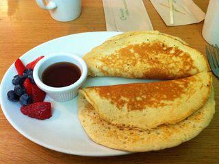 Pancakes at Greens Cafe