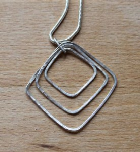 Triple Square necklace