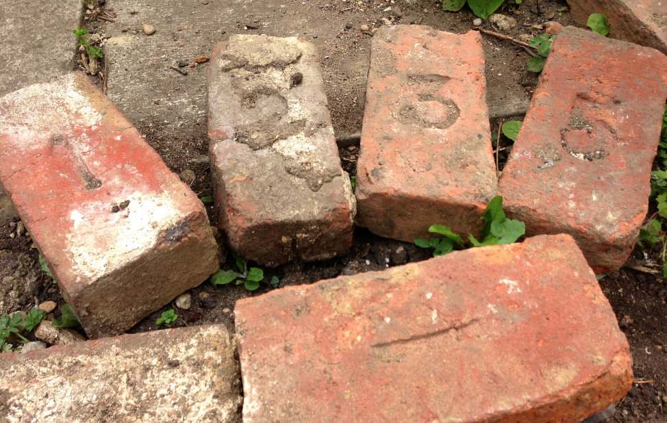 Numbered bricks