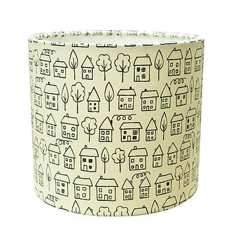 Little Houses Lamp Shade