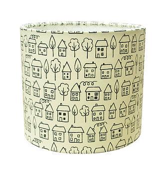 Little Houses Lamp Shade
