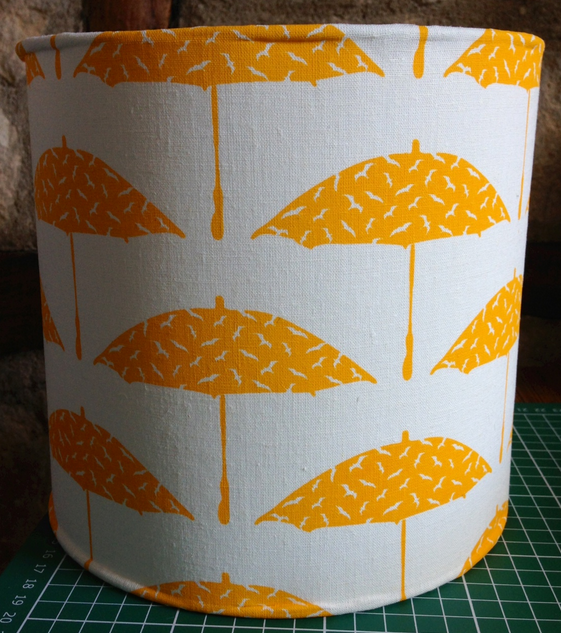the finished lamp shade