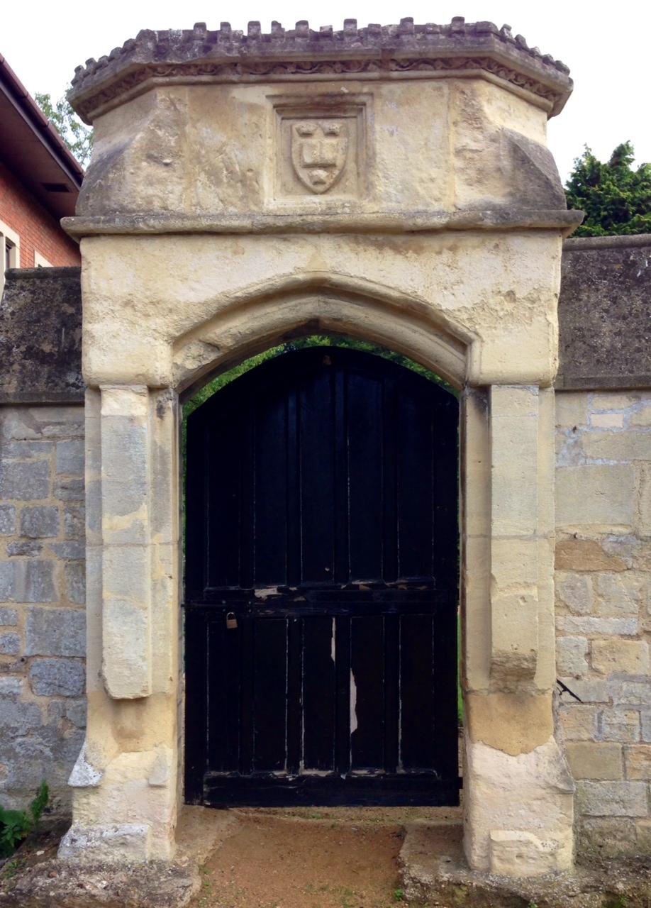 black abbey door