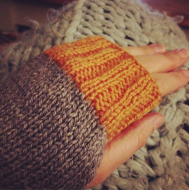 Homemade wrist warmers