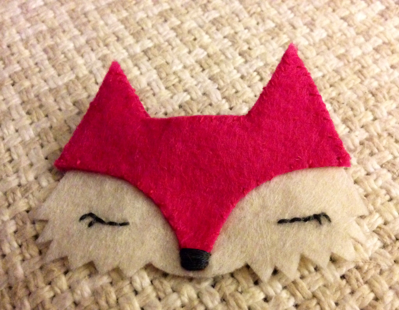 pink fox brooch