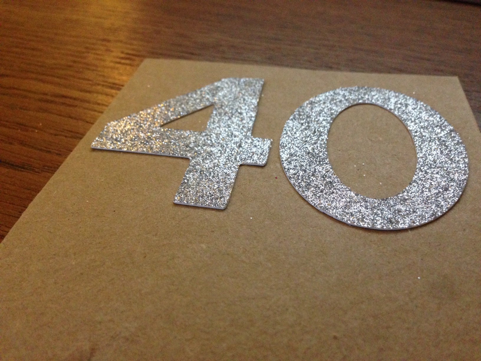 handmade 40th birthday card
