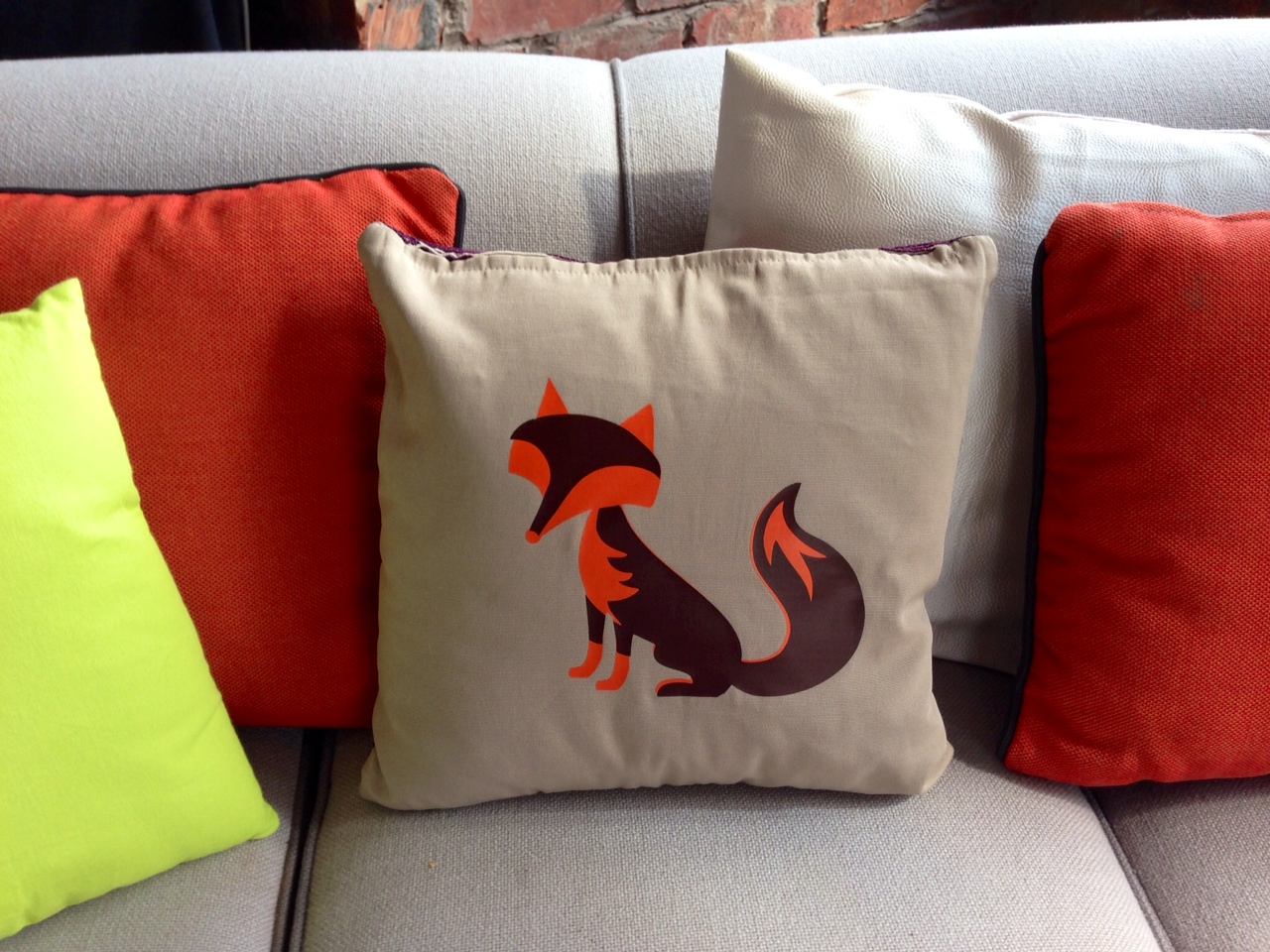 Cricut Fox Cushion