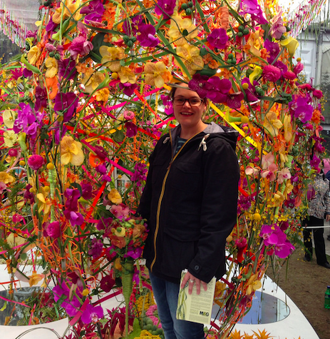 Me in the Interflora display
