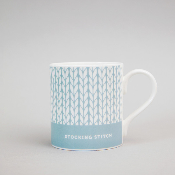 stocking stitch mug