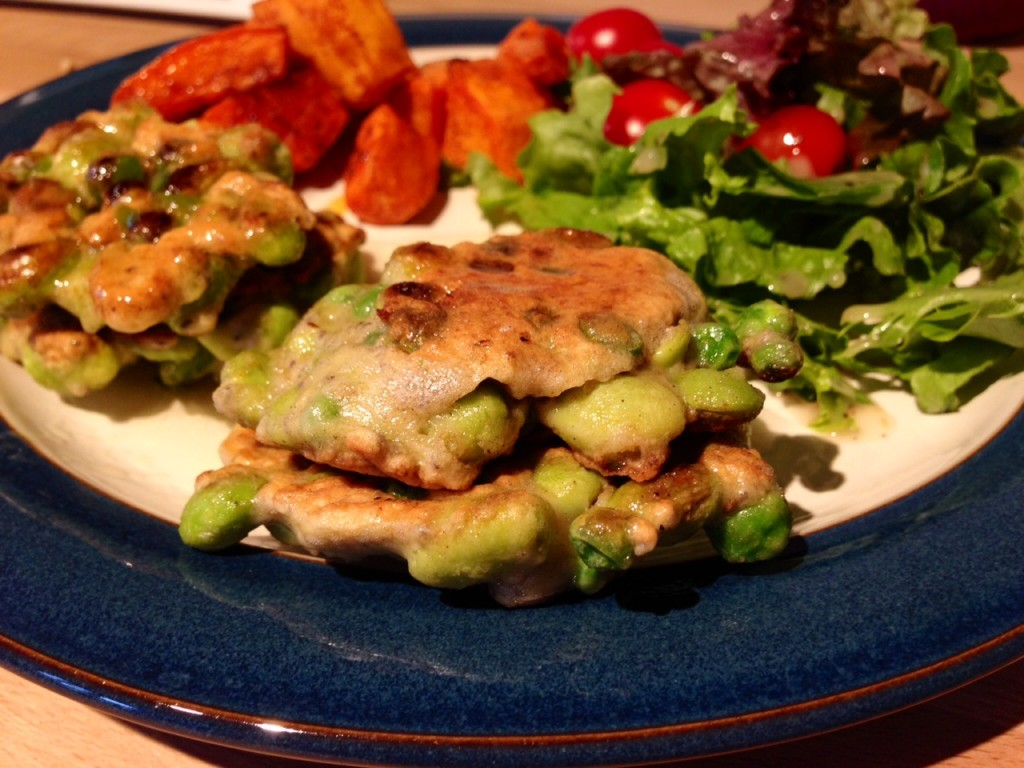 pea and parsley fritters