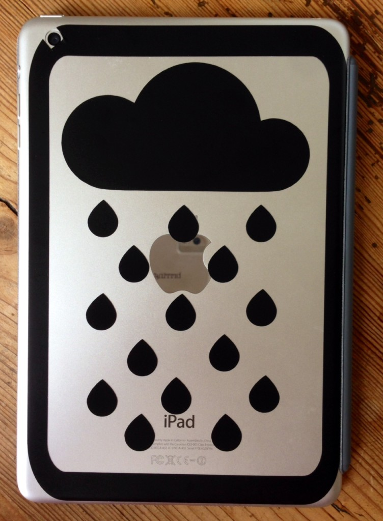 Rain Cloud ipad vinyl