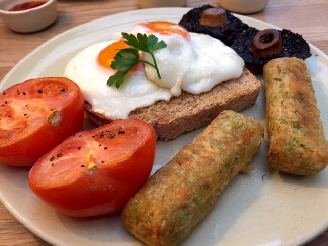 Veggie Breakfast at Burford Garden Centre