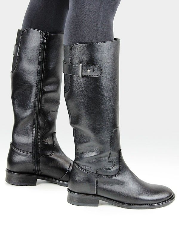 Knee length vegan boots