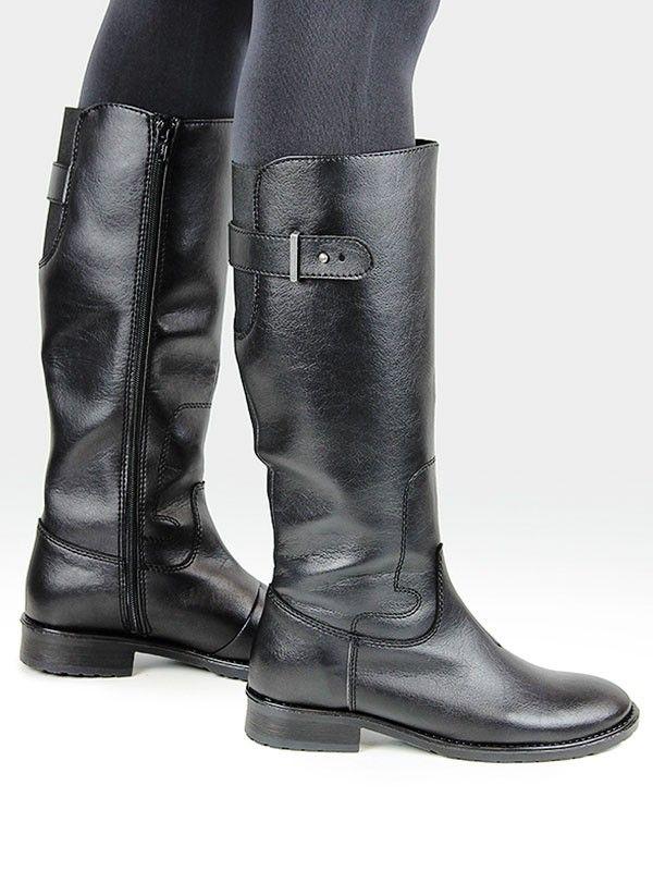 Knee length vegan boots