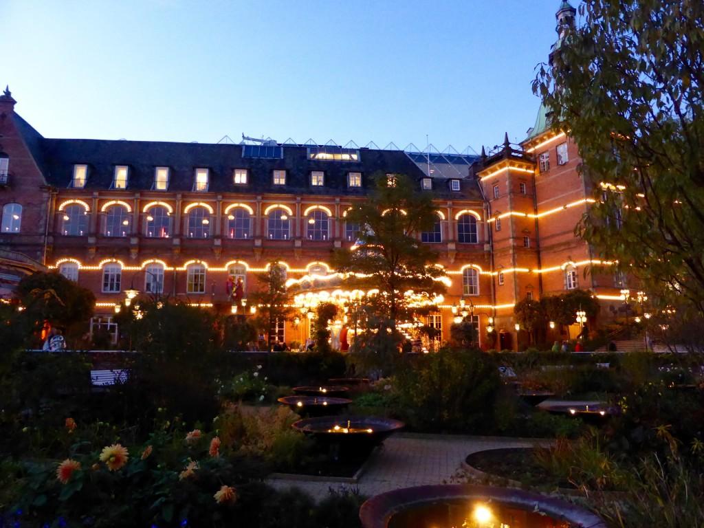 Tivoli gardens at night