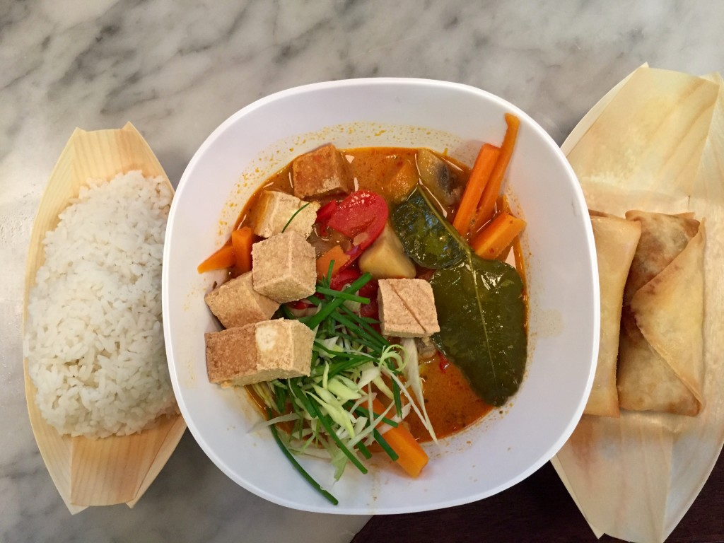 lele curry with crispy tofu