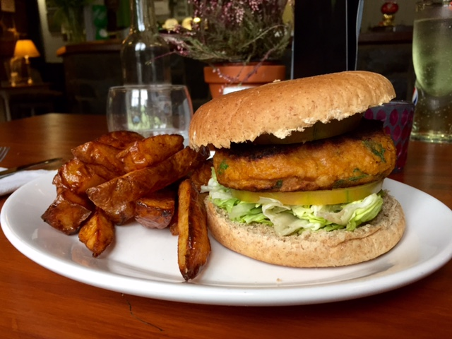 The Brewery Inn Cosheston vegan burger