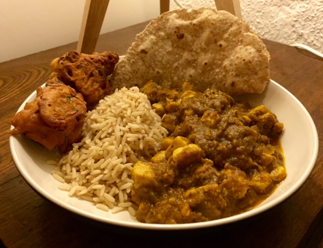 Vegan Curry dinner