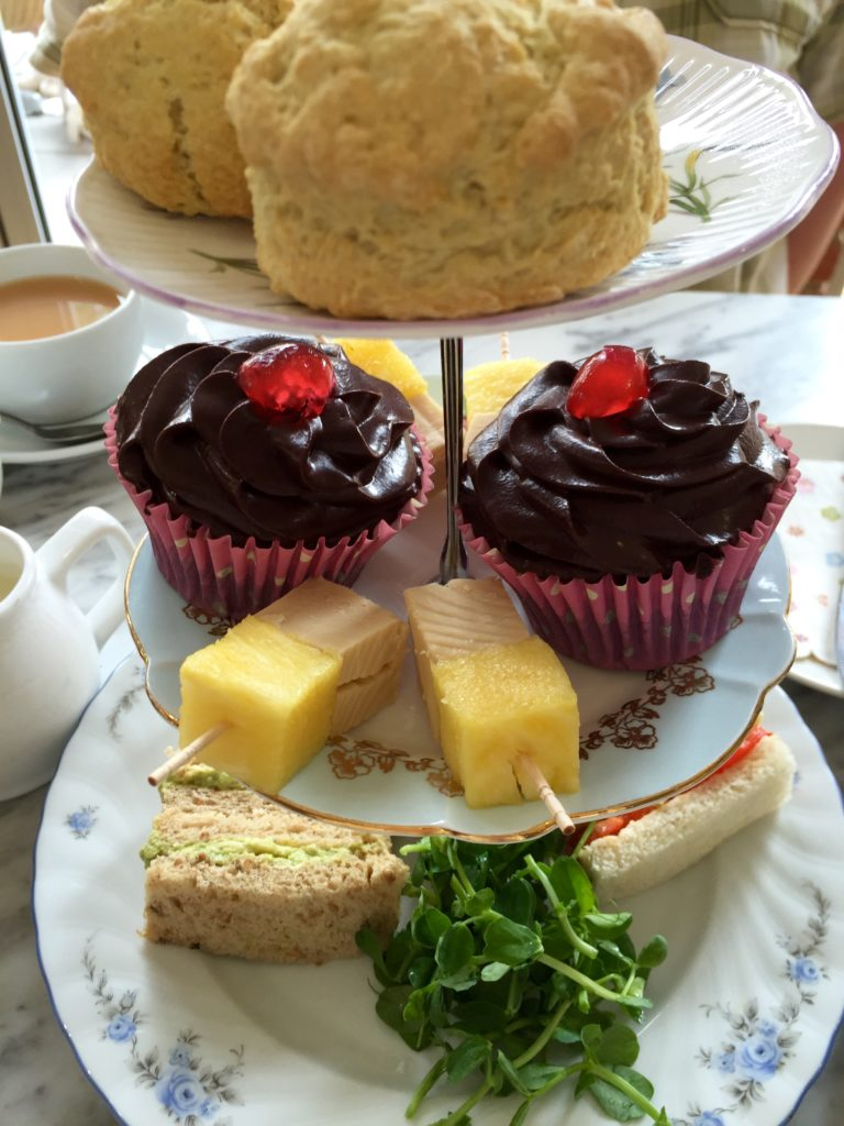 Vegan afternoon tea at Compton Acres