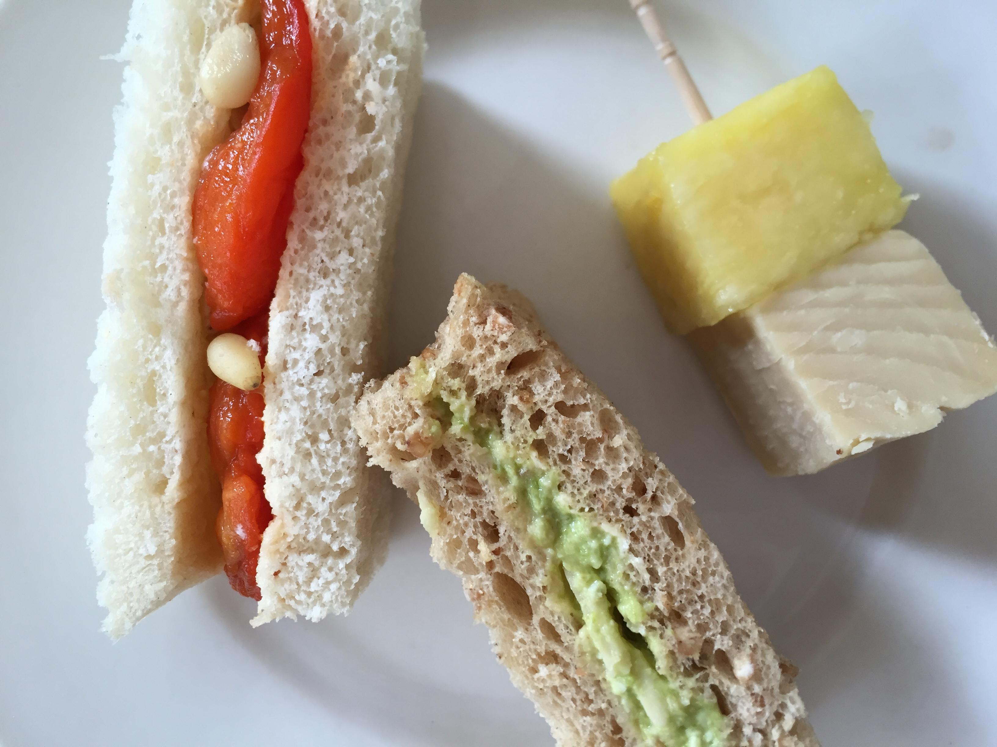 Vegan sandwiches at Compton Acres