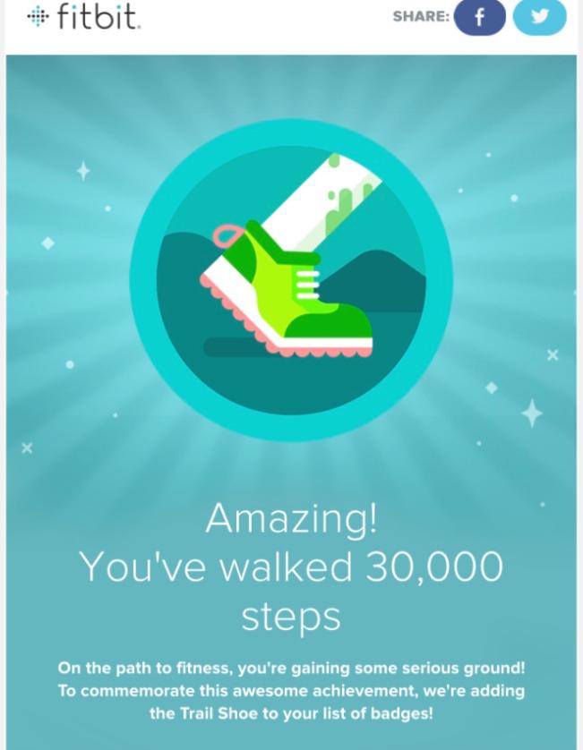 FitBit step badge
