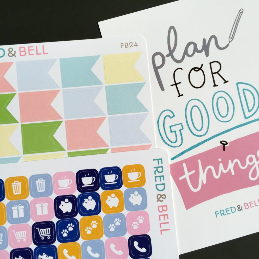 Fred and Bell planner stickers