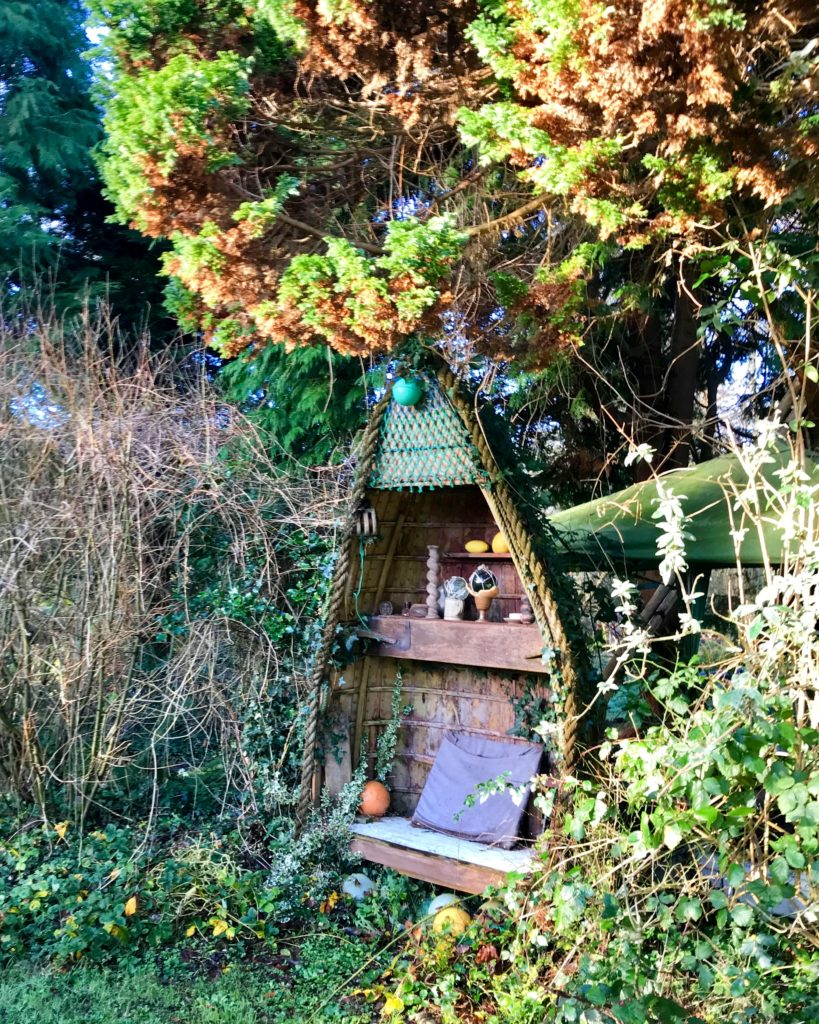Boat nook in the garden