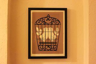 The Love Birds Framed Print