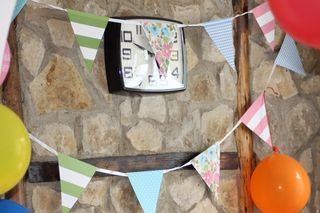 Birthday Bunting and Balloons