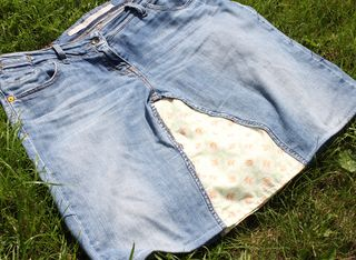Upcycled jeans