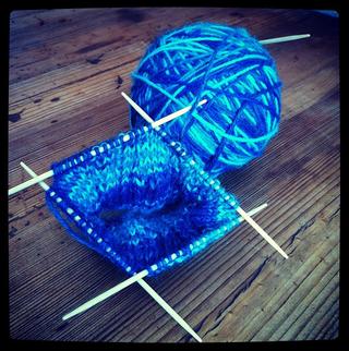 sock knitting