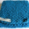 Hand Knitted Moss Stitch Scarf
