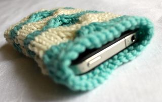 Knitted iPhone cover