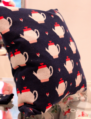 cath kidston teapot cushion