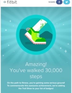 FitBit step badge