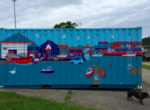 Storage container art