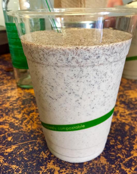 Vegan oreo milkshake