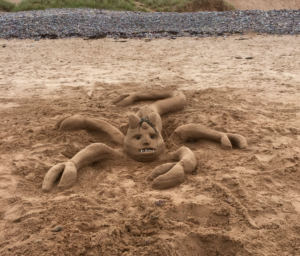 sand art at freshwater west