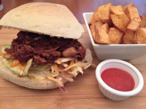 The Cornish Vegan BBQ jackfruit