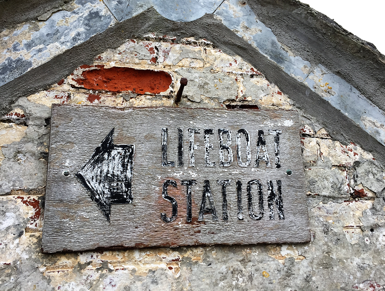 lizard lifeboat sign