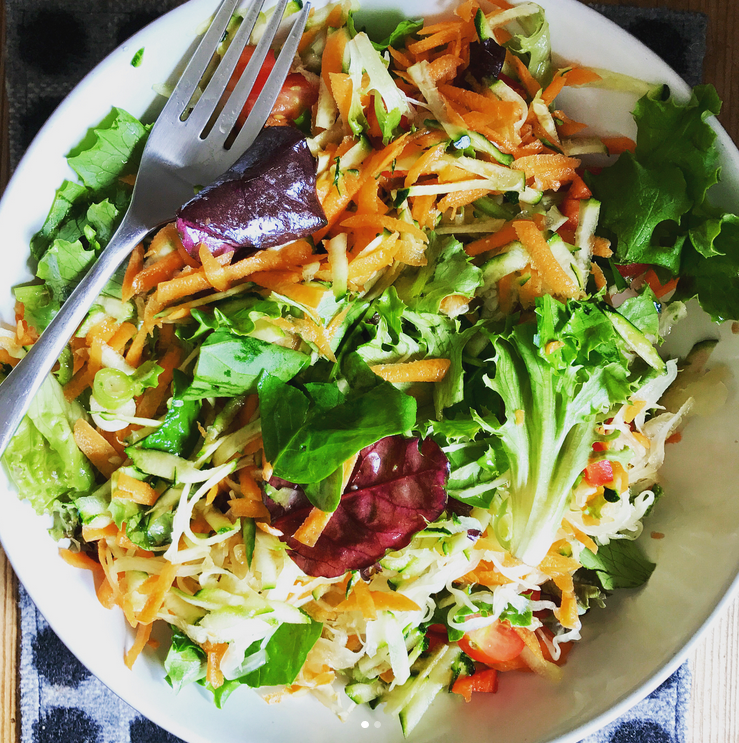Grated salad